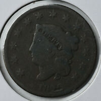 1826 1C CORONET HEAD LARGE CENT TYPE COIN COPPER CIRCULATED