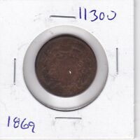 KAPPYSWHOLESALE  ID11300  1869 TWO CENT PIECE GOOD COLLECTOR COIN