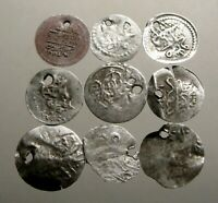 LOT OF 9 SILVER COINS OF THE OTTOMAN EMPIRE______FROM THE 17