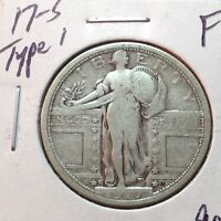 1917-S TYPE 1  FINE  STANDING LIBERTY QUARTER    COIN