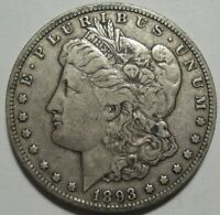 1893-O VF/EXTRA FINE  MORGAN DOLLAR, SUPER DETAILS & EYE APPEAL, SHIPS FREE