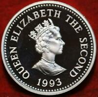 UNCIRCULATED PROOF 1993 ALDERNEY 1 POUND SILVER FOREIGN COIN