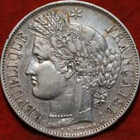 1849 FRANCE 5 FRANCS SILVER FOREIGN COIN