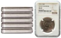 LOT OF 6 COINS 1991 D MOUNT RUSHMORE NGC MS69 COMMEMORATIVE