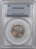 1903 LIBERTY NICKEL PCGS MINT STATE 66