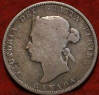 1872 H CANADA 25 CENTS SILVER FOREIGN COIN