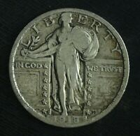 1918 S STANDING LIBERTY SILVER QUARTER  CIRCULATED GREAT BOOK FILLER