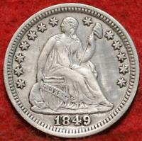 1849/6 PHILADELPHIA MINT SILVER SEATED HALF DIME