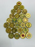 27 X $2 COLOURED CIRCULATED COMMEMORATIVE COINS ANZAC OLYMPI