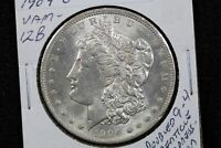 1904-O MORGAN DOLLAR VAM-12B DOUBLED DATE 9WI1
