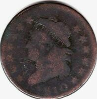 1810 CLASSIC HEAD LARGE CENT S-283 -G/VG CONDITION