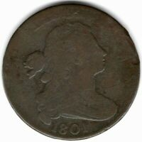 1801 DRAPED BUST LARGE CENT S219 3 ERRORS - G CONDITION