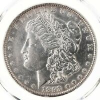 1893 MORGAN $1 PCGS CERTIFIED AU DETAILS CLEANING