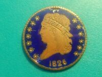 1826 CLASSIC HEAD HALF CENT HOBO WITH ENAMEL ON OBSERVE.