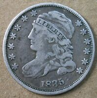 10C 1835 CAPPED BUST DIME F-VF DETAILS  AVENUECOIN