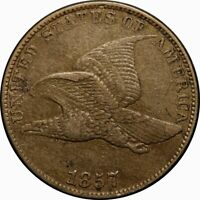 1857 1C FLYING EAGLE CENT EXTRA FINE  EF  OLD TYPE COIN MONEY F.E. PENNY