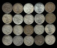 ONE ROLL 1922-26 PEACE SILVER DOLLAR TWENTY TOTAL 90 SILVER LOT S28