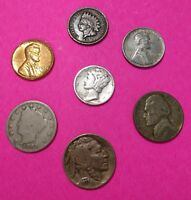 INDIAN HEAD STARTER COLLECTION W/ SILVER WAR NICKEL MIX LOT OF 7 3 FREE