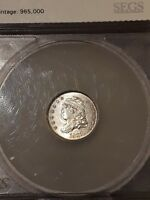 1832 H10C HALF DIME SILVER 5C COIN FROM COIN COLLECTION UNCIRCULATED BUST