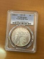 1880 O TOP 100 MORGAN SILVER DOLLAR $1 MINT STATE 63 PCGS VAM 6A 8/7 EAR