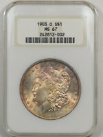 1903-O MORGAN DOLLAR NGC MINT STATE 67 FRESH, FATTIE HOLDER