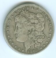 1902-O MORGAN SILVER DOLLAR--CIRCULATED