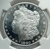 1880 UNITED STATES OF AMERICA SILVER MORGAN US DOLLAR COIN EAGLE NGC I79595