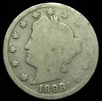 1898 LIBERTY BARBER V NICKEL AG ABOUT GOOD B02