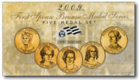 2009 FIRST SPOUSE BRONZE MEDAL 5 MEDALS SET / EXCELLENT COND