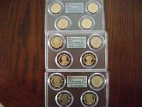 2007-08-2009-S PCGS PR69DCAM PRESIDENTIAL FIRST STRIKE 4-COIN DOLLAR PROOF SETS