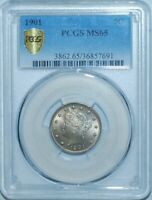 1901 PCGS MINT STATE 65 LIBERTY V NICKEL