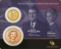 2016 RONALD REAGAN PRESIDENTIAL DOLLAR & FIRST SPOUSE MEDAL