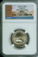 2012 S CHACO QUARTER NGC MS 67 FR 2ND FINEST GRADE .