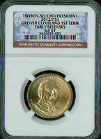 2012-P GROVER CLEVELAND 2ND PRES. DOLLAR NGC MINT STATE 67 ER 1ST SPOTLESS  .