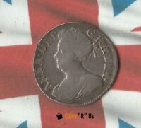 1710 QUEEN ANNE GREAT BRITAIN 3 PENCE  309 YEAR OLD SILVER COIN  NICE DETAILS
