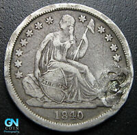 1840 P SEATED DIME  --  MAKE US AN OFFER  W6539  ZXCV