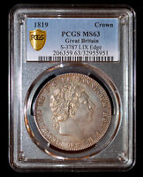 PCGS MS63 1819 GREAT BRITAIN CROWN MONSTER TONING