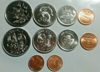 ICELAND: 5 PIECE UNCIRCULATED COIN SET:  0.05 TO 10 KRONUR