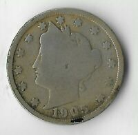 RARE VERY OLD ANTIQUE 1905 US LIBERTY V NICKEL COLLECTION CO