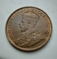1913 GEORGE V  CANADA ONE CENT  LOVELY HIGHLY DETAILED COIN