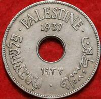 1937 PALESTINE 10 MILS CLAD FOREIGN COIN