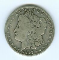 1897-S MORGAN SILVER DOLLAR--CIRCULATED