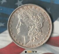 1884 UNITED STATES MORGAN DOLLAR-  90 SILVER- PRETTY GOOD CIRCULATED SHAPE