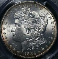1884 MINT STATE 63 PCGS VAM 4 SMALL DOT TOP 100 MORGAN DOLLAR IDJJ574