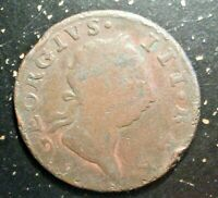 1769 IRELAND HIBERNIA 1/2 HALF PENNY KING GEORGE III COPPER COIN