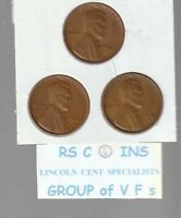 1947S &  1948S  &  1949S       FINES    LINCOLN  CENT  3  COIN  SET