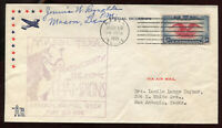 1938 MASON TX  NATIONAL AIRMAIL WEEK COVER PM SIGNED A124