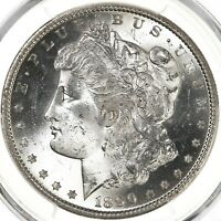 1890-S MORGAN $1 PCGS CERTIFIED MINT STATE 65 SAN FRANCISCO MINT STATE SILVER DOLLAR COIN