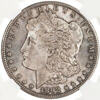 1892-CC MORGAN $1 NGC CERTIFIED MINT STATE 61 CARSON CITY MINT US SILVER DOLLAR COIN