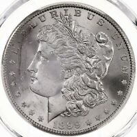 1899-S  MORGAN $1 PCGS CERTIFIED MINT STATE 65 US MINT SILVER DOLLAR COIN